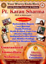 INDIA'S NO.1 GOLD MEDALIST ASTROLOGER PT. KARAN SHARMA
