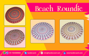 Blazing and flaring beach roundies tapestry by Handicrunch